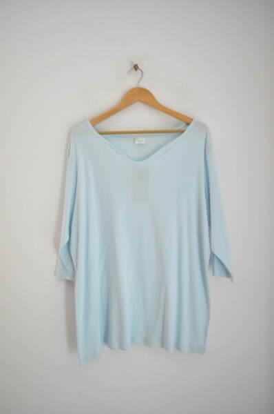 Памучна дамска блуза в млечносин цвят (второ качество)