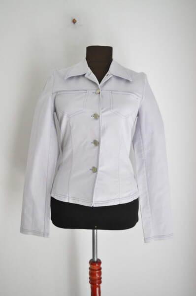 Дънково дамско яке в бледолилав цвят (второ качество)