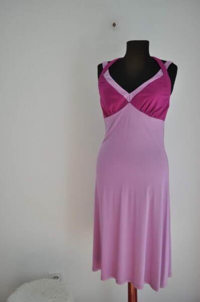 Трикотажна дамска рокля в лилаво (второ качество)