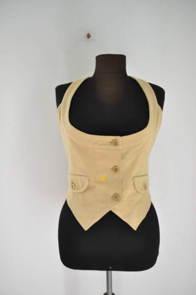 Дамски елек с асиметрична предна долна част (второ качество)