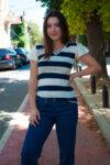 Раирана асиметрична блуза (второ качество)