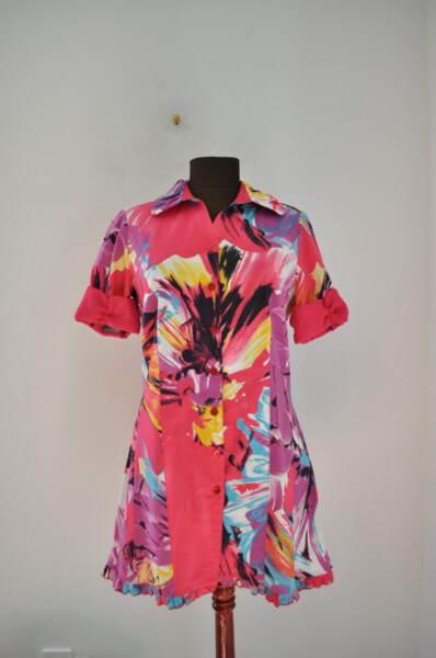 Дамска риза в динамични цветове
