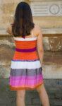 Лятна дамска рокля в топли цветове