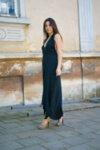 Дамска рокля с А симетричен подгъв