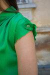 Ефирна дамска рокля в зелено (второ качество)