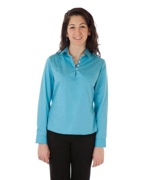 Дамска риза с частично закопчаване (второ качество)