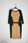 Вталена дамска рокля с пеплум (второ качество)