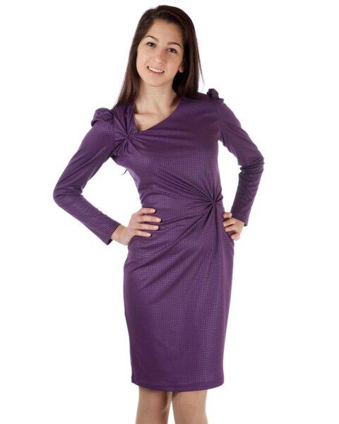 Вталена дамска рокля с набори (второ качество)