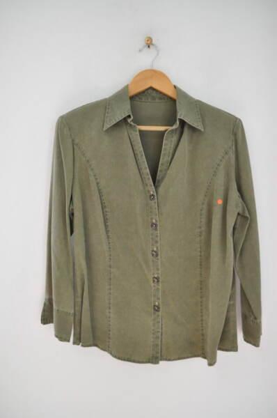Дамска риза в зелен цвят (второ качество)