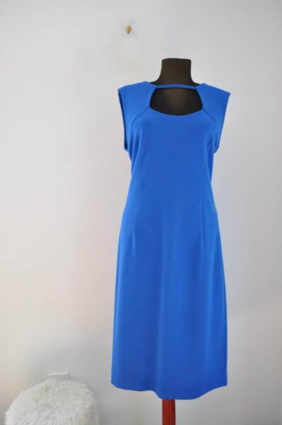 Елегантна дамска рокля в синьо (второ качество)