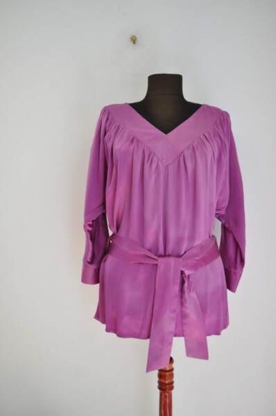 Дамска блуза в свободен силует и коланче (второ качество)
