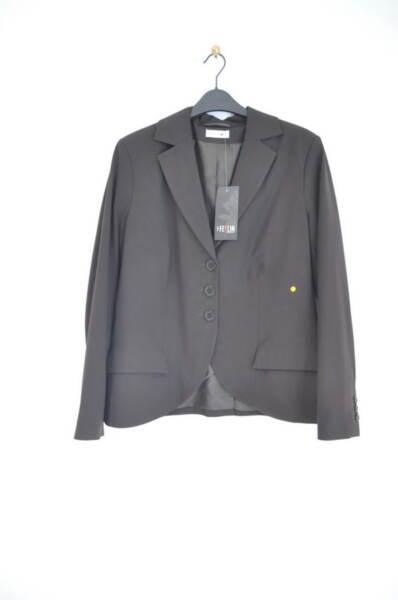Кафяво дамско сако с ревер-яка (второ качество)
