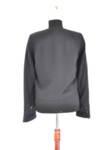 Късо дамско сако без закопчаване в черно (второ качество)