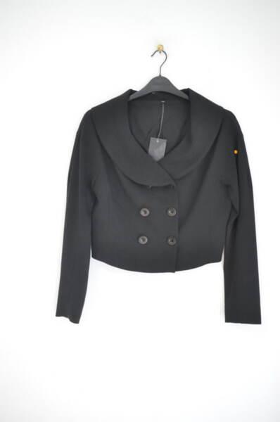 Късо дамско сако с широка обло яка (второ качество)