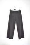 Дамски пантаон с широки крачоли и кафеви райета