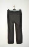 Черен дамски панталон на кафяви райета