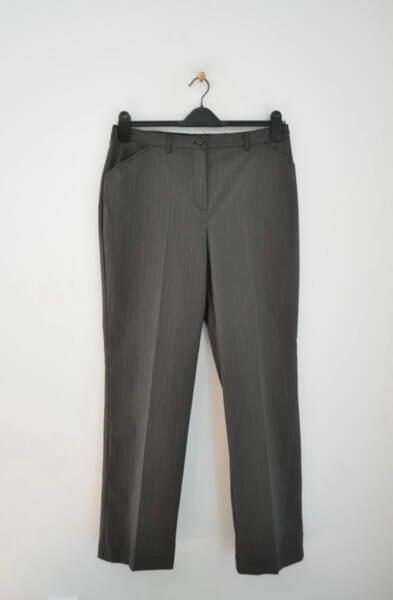 Дамски сив панталон на райета (второ качество)