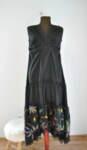 Дълга дамска рокля с А симетрична долна част
