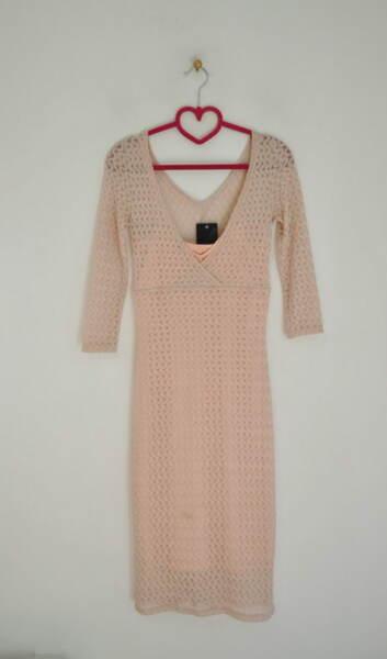Дантелена вталена дамска рокля (второ качество)