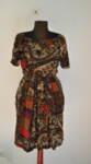 Дамска рокля в свободен силует на флорален принт