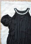 Черна дамска блуза с отворени рамене
