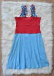 Памучна дамска рокля с разкроен силует