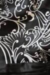 Черно-бяла дамска рокля с флорален принт (второ качество)