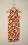 Вталена дамска рокля с принт цветя