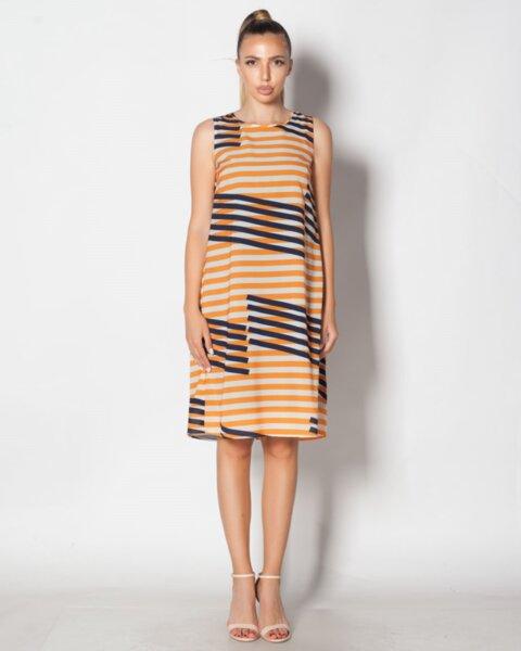 Suzana - ефирна дамска рокля в А силует и кокетен гръб - от шифон