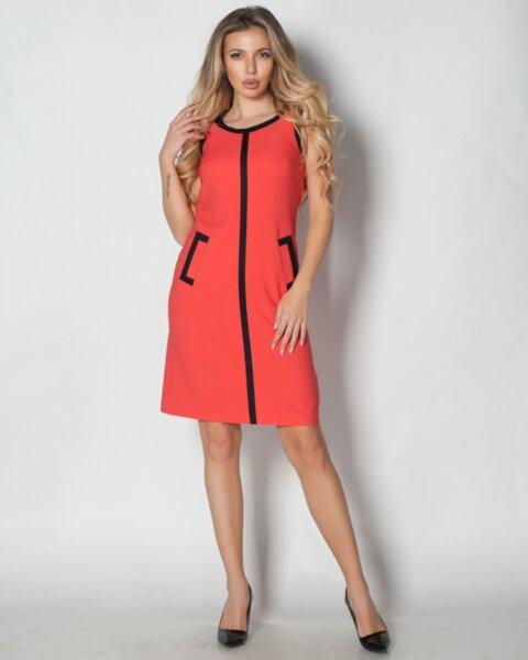 Apolonia - кокетна дамска рокля с контрастни детайли в А силует