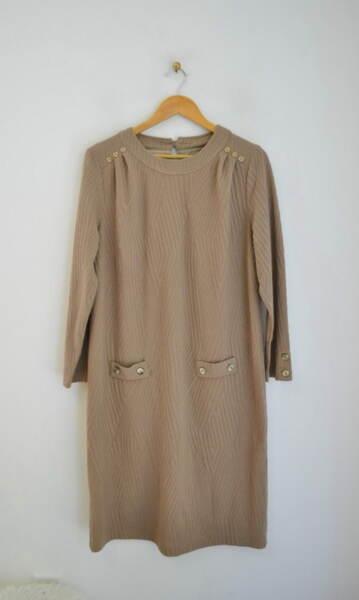 Дамска рокля от фино релефно плетиво