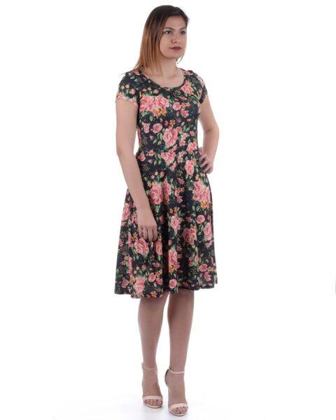 Разкроена рокля на цветя - Siana