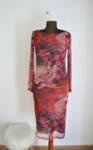 Eлегантна дамска рокля от пениран памук и ефектна мрежа