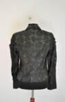 Дантелено дамско яке с метален цип