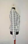 Черно-бяло дамско сако с ревер яка