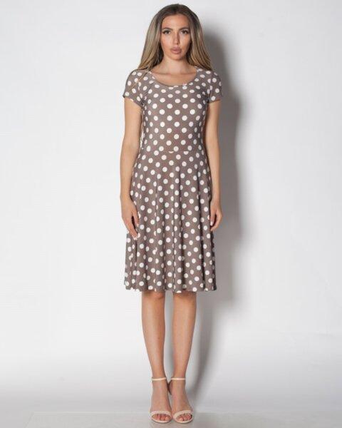 Siana - разкроена дамска рокля с къс ръкав (второ качество)