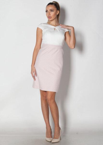 Елегантна дамска рокля със светла долна част (второ качество)