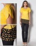 Асиметрична туника от памук в свободен силует (второ качество)