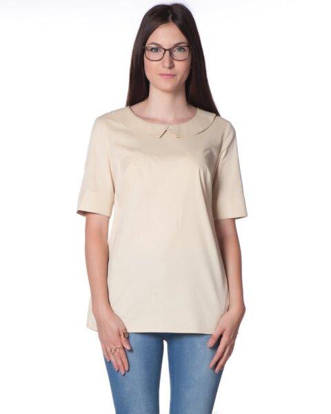 Памучна дамска блуза в прав изчистен силует