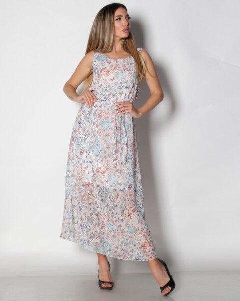 Persefona - дълга шифонена рокля в лек свободен силует