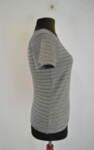 Дамска блуза на райета с кафяво бие