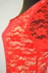 Дантелена дамска рокля по тялото с къс ръкав