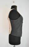 Дамски елек с контрастна предна част (второ качество)