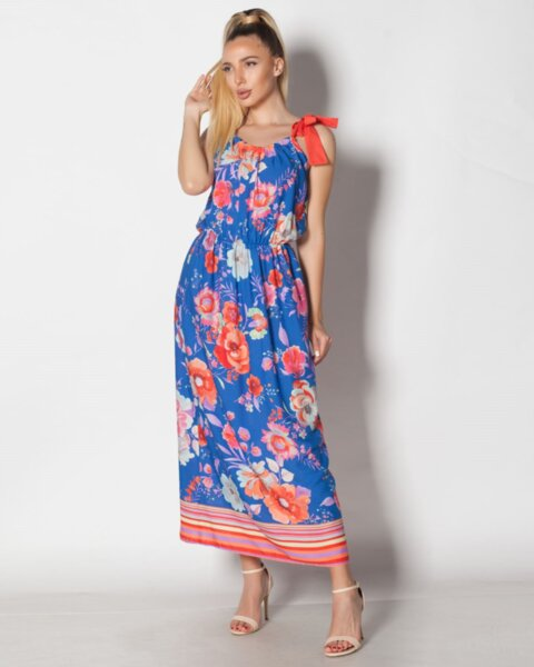 Sweet charming - дълга и свободна лятна рокля с регулируема презрамка