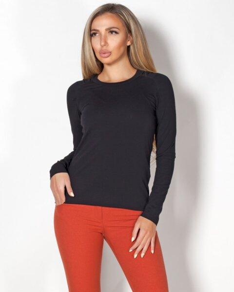 Hala - дамска блуза с набор в раменете и дълъг реглан ръкав