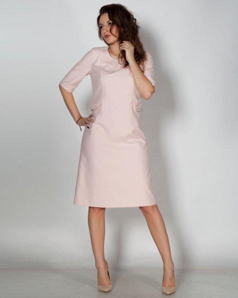 Vselena - дамска рокля в полувтален силует с кокетни детайли