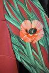 Дамска рокля с втален силует със средна дължина (второ качество)