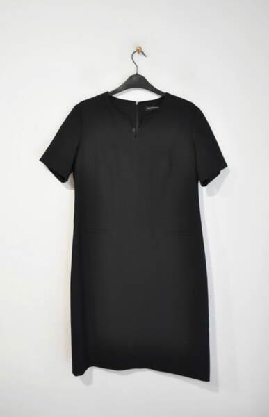 Черна дамска рокля с къс ръкав