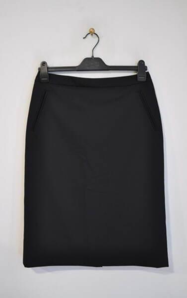 Дамска пола с джобове филетка