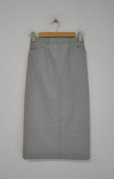 Сива дамска пола с джобове